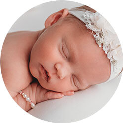 Heirloom real pearl baptism jewelry for girls.