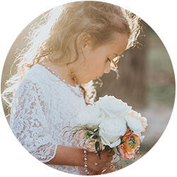 Real pearl flower girl jewelry.
