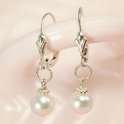 Shop Pearl Wedding Party Earrings.