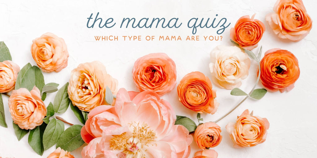 Take the mama quiz - beautiful coral flowers and greenery.
