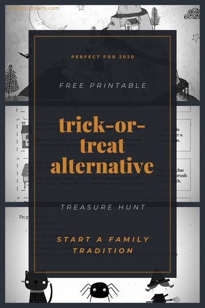 Free printable trick-or-treat halloween alternative for 2020.