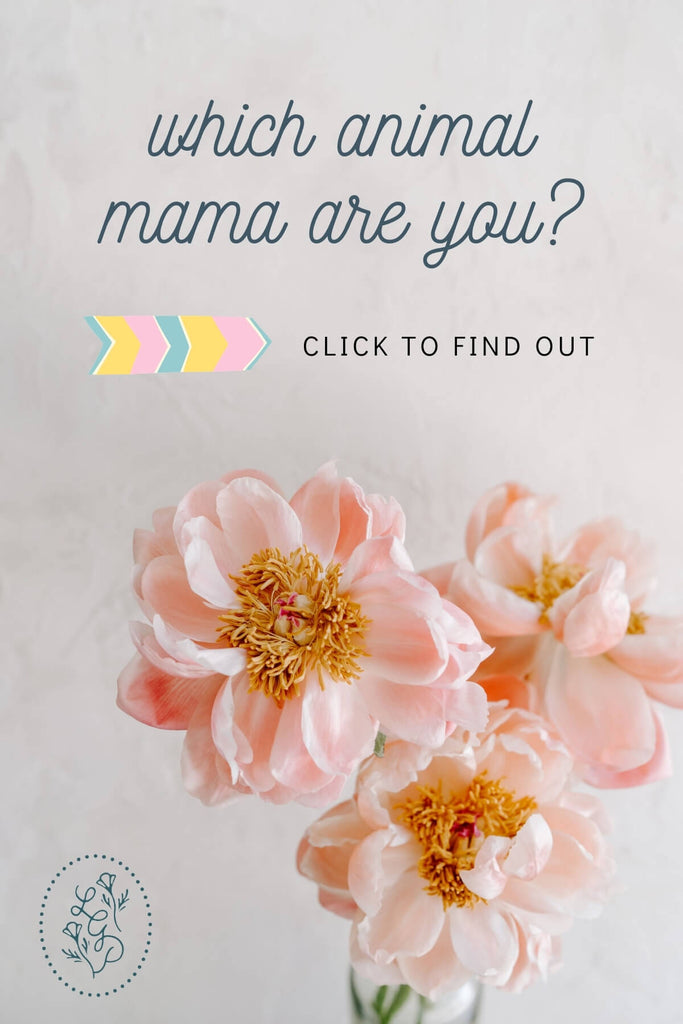 Beautiful peach flowers. words - which animal mama are you? click to find out.