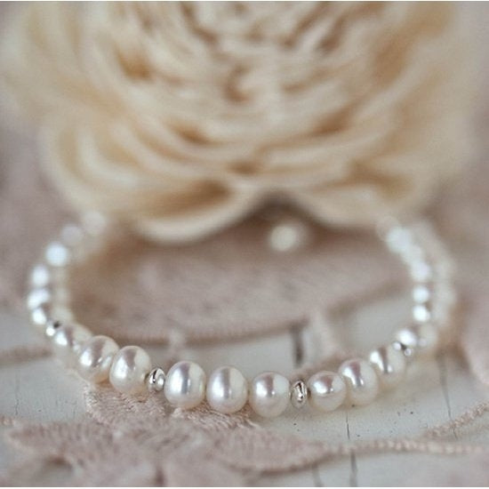 Lovely Pearl and Sterling Bracelet - Little Girl's Pearls