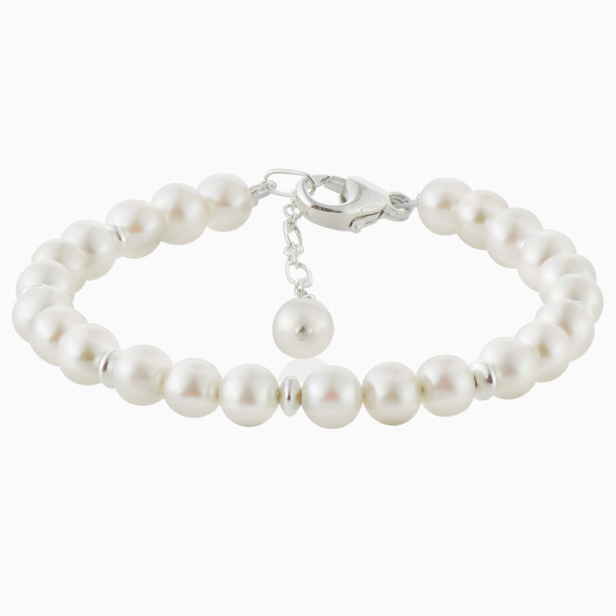 Lovely Pearl and Sterling Bracelet