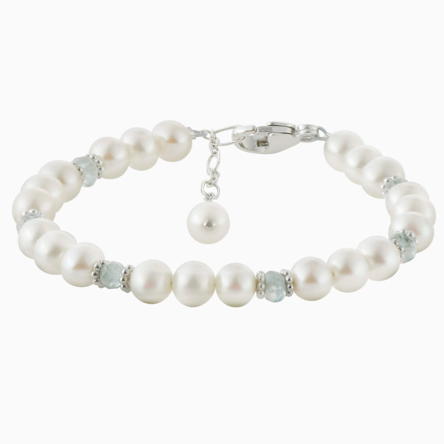 Adorable Pearl and Birthstone Bracelet