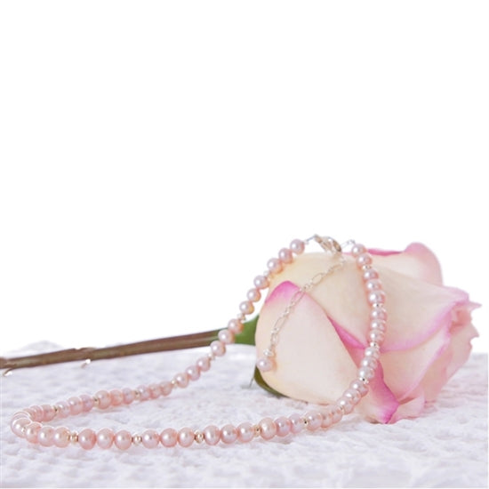 Lovely Pearl and Sterling Silver Necklace - Little Girl's Pearls