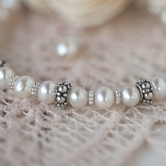 Elegant Pearl and Sterling Silver Necklace - Little Girl's Pearls