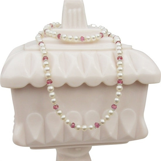 Adorable Pearl and Birthstone Jewelry Set - Little Girl's Pearls