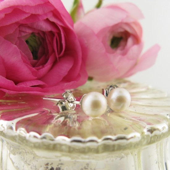 Sweet Pearl Post Earrings - Little Girl's Pearls