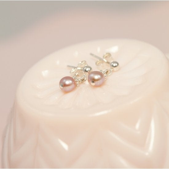 Precious Pearl Dangle Post Earrings - Little Girl's Pearls