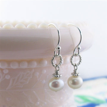 Beautiful Pearl French Hook Earrings - Little Girl's Pearls