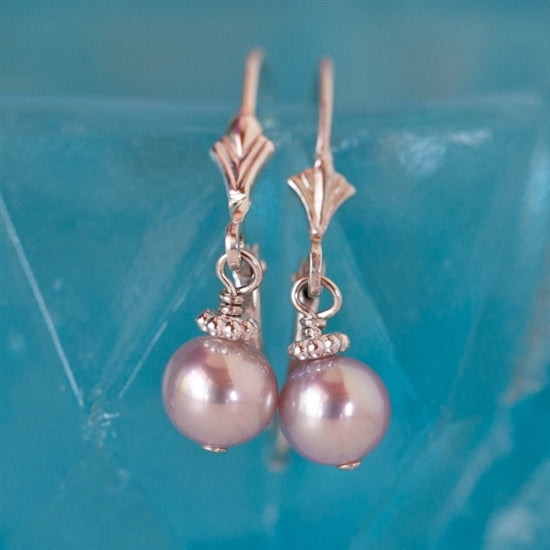 Precious Pearl Lever Back Earrings - Little Girl's Pearls
