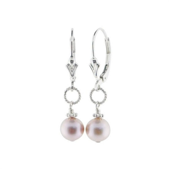 Beautiful Pearl Lever Back Earrings - Little Girl's Pearls