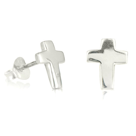 Beautiful Sterling Cross Earrings - Little Girl's Pearls