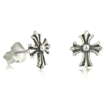 Cute Cross Post Earrings - Little Girl's Pearls
