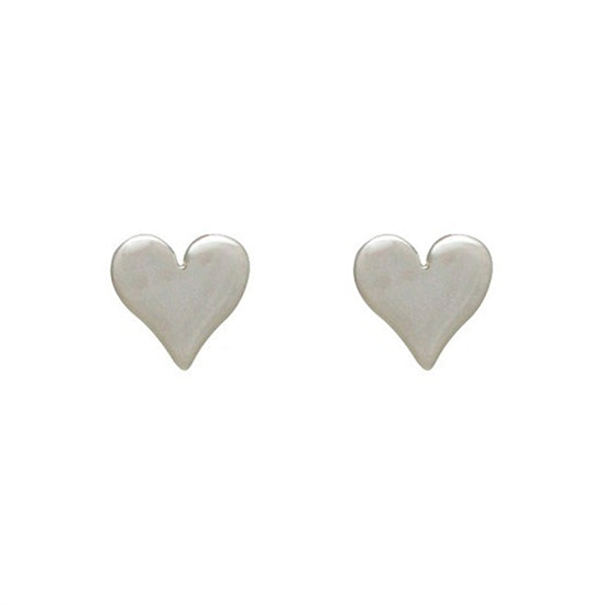 Sweet Heart Post Earrings - Little Girl's Pearls