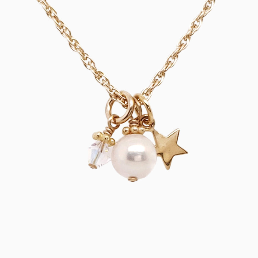 Wish on a Star Necklace in Yellow Gold-Filled