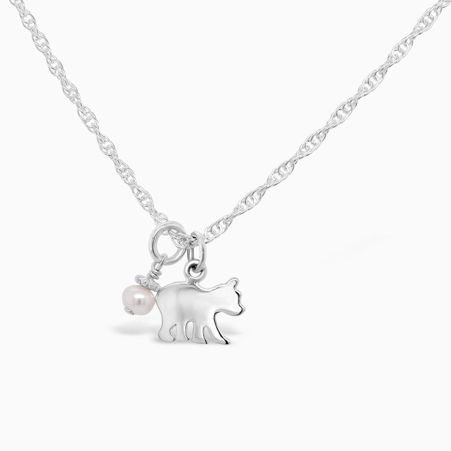 Itty Bitty Baby Bear Necklace - Little Girl's Pearls