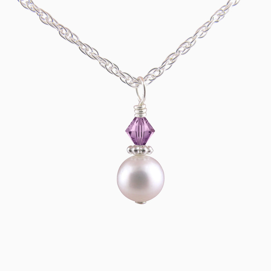 darling pearl and crystal necklace