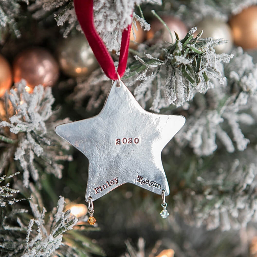Personalized Christmas Star Ornament