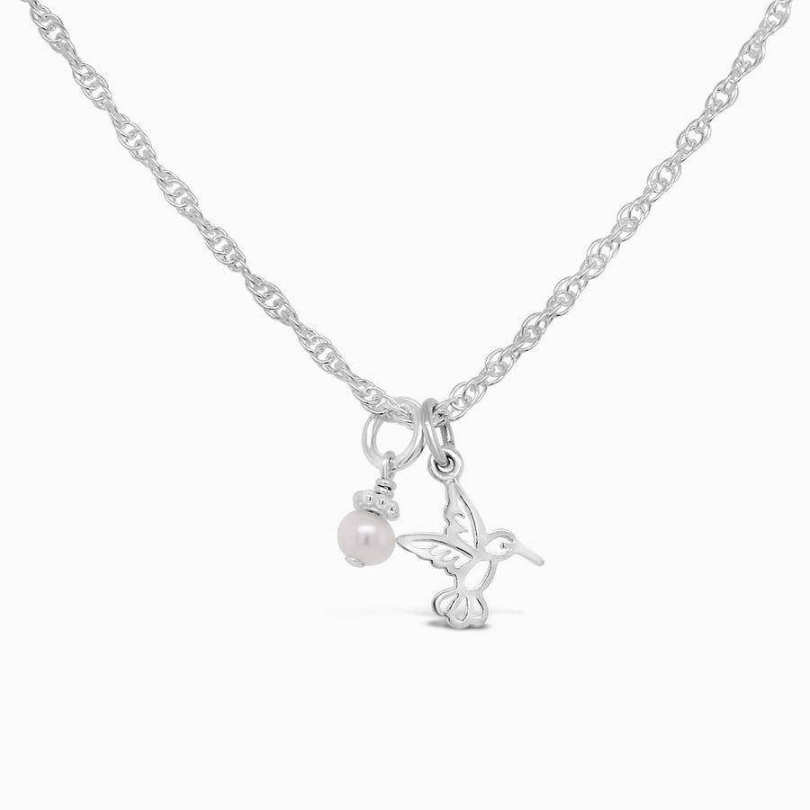 Ittiest Bittiest Hummingbird Necklace - Little Girl's Pearls