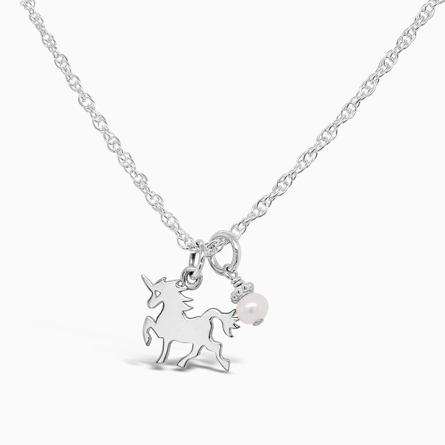 Magical Unicorn Necklace - Little Girl's Pearls