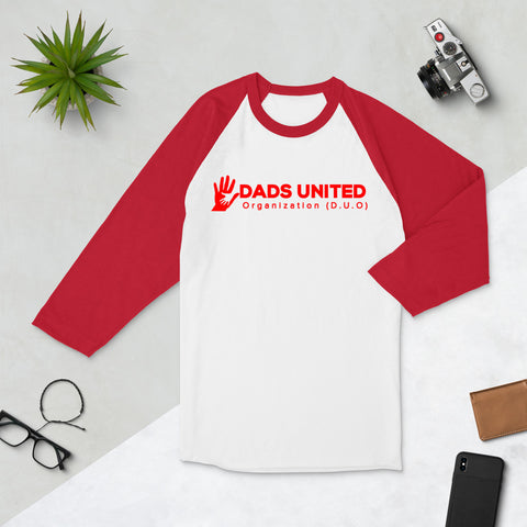 Dads United Fitted 3/4 sleeve raglan shirt