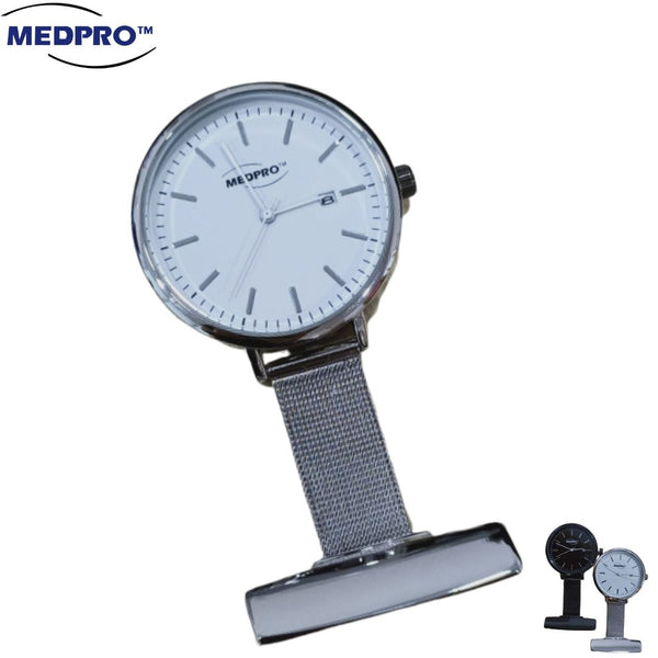 MEDPRO DW Inspired Deluxe Stainless Steel Nurse Watch with Calendar!