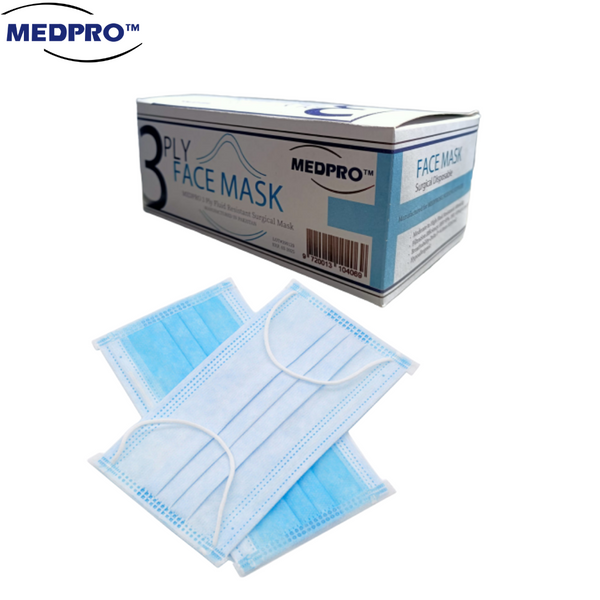 MEDPRO 3 Ply 50 Pcs Surgical Mask