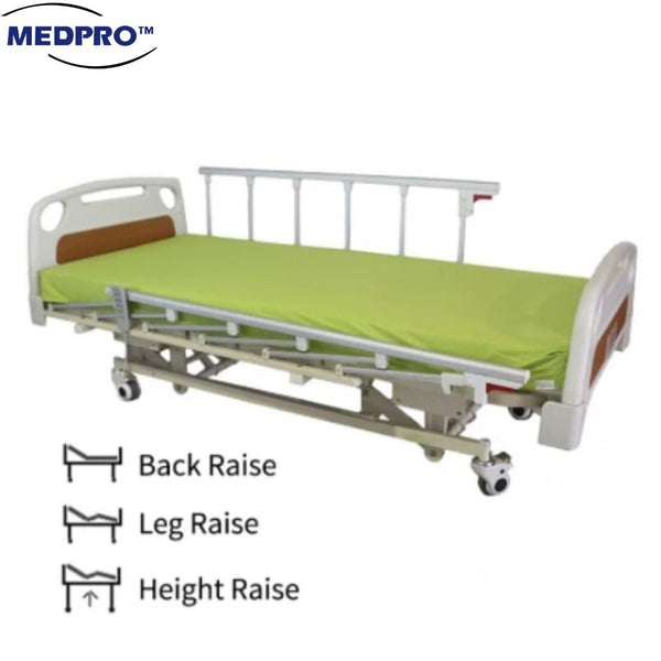 [For Weekly/ Monthly Rental] 3 Crank Electrical Hospital Bed with Remote Control