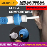 Electric Vacuum Ear Wax Removal Tool with Soft Ear Tips & Cleaning Brush