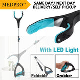 Foldable Lightweight Hand Grab Tool with LED Light