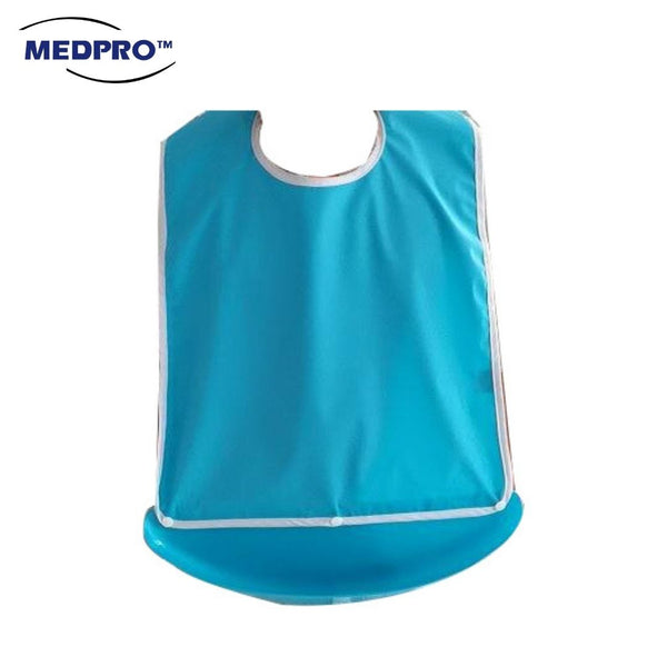 MEDPRO™ Adult Bib with Detachable Tray 45cm x 60cm (Waterproof & Reusable!)