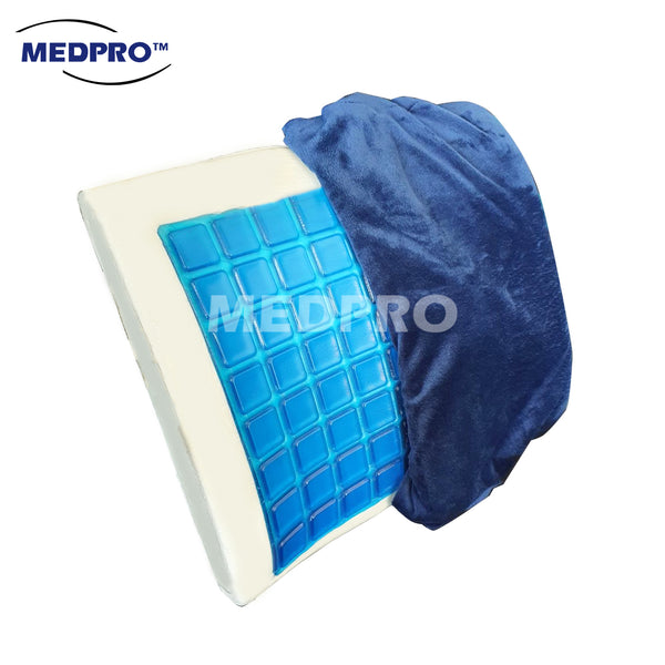 MEDPRO™ Memory Foam Lumbar Back Cushion with Cooling Gel