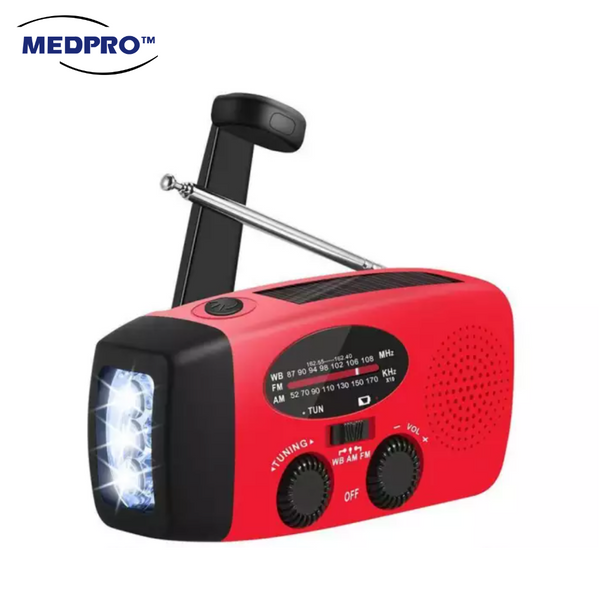[BEST RADIO] Emergency Radio and Torch Light with 3 Charging Method: Solar / Hand Crank / USB Cable
