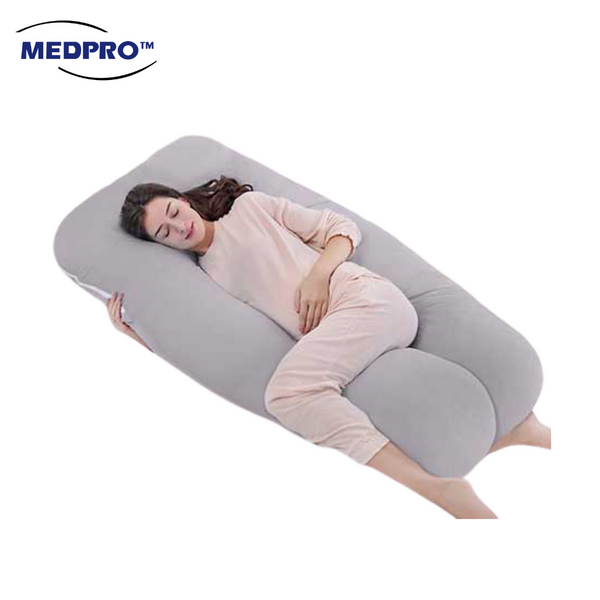 MEDPRO™ U-Shaped Pregnancy Pillow (Machine Washable Zipper Cover)