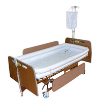 Inflatable Bed Shower Bath Basin Full Set with Air Pump, Water Bag and Washing Nozzle for Patients