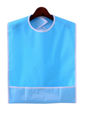 MEDPRO™ Adult Bib with Pocket in PVC Plain Blue 45cm x 65cm (Waterproof & Reusable!)