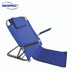 Foldable Adjustable Backrest with Removable Armrest