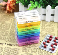 7 Days 4 Times Daily Medicine Storage Tablet Box with 28 compartments