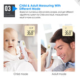 [FDA Approved] JUMPER Non - Contact Digital Infrared Forehead & Ear Thermometer Baby Adult Thermometers Non-contact Body Temperature Fever Alarm LCD Backlight