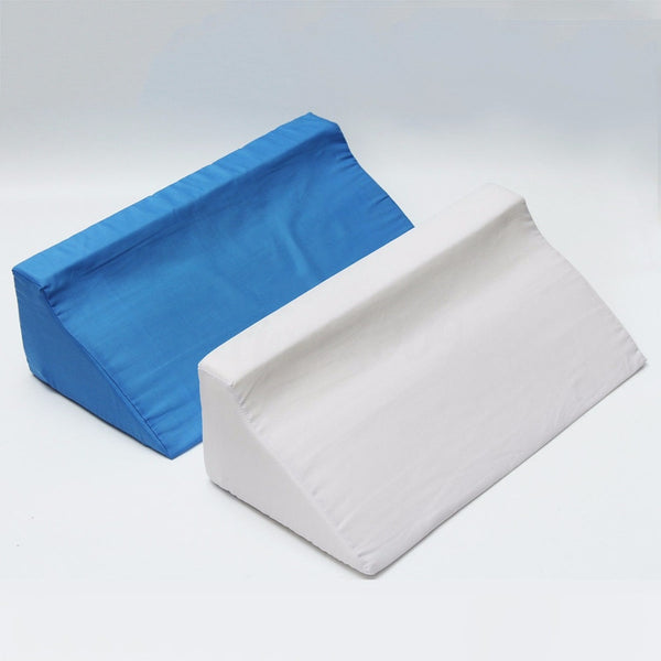 Foam Bed Wedge Pillow / Leg Elevation / Back Lumbar Support Cushion for Patient Care/ 2 Hourly Turning