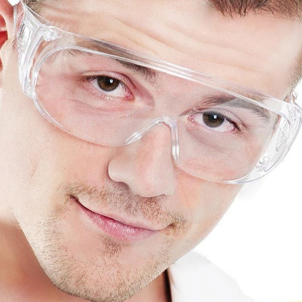 Clear Vented Safety Goggles Eye Protection / Lab Anti Fog Glasses