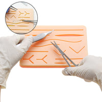 Suturing Skills Full Practice Kit with Pseudo Skin Structure (New Improved Version)