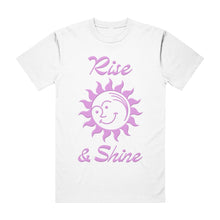 Load image into Gallery viewer, RISE & SHINE TEE WHITE