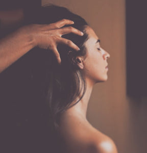 Ayurvedic indian head massage