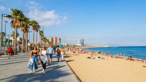Barcelona city beach