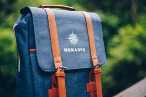 Navy Blue Travel Backpack