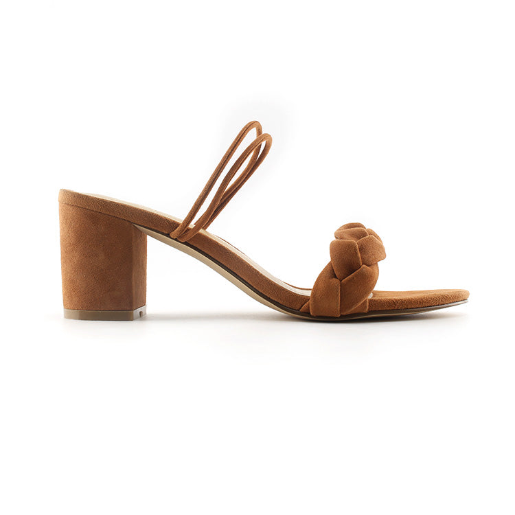 mid - heel leather sandal