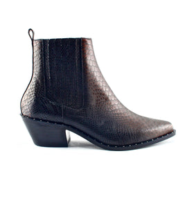 AUSTIN<br/> Snake leather boots